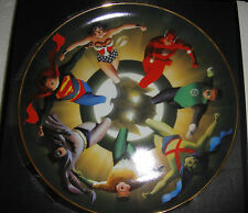 Warner Liga de la Justica Coleccionista Placa Superman Batman Jla por Alex Ross