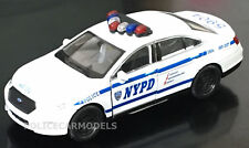 Welly / Daron 1/43 NYPD New York City Police Ford PI Sedan - w/ Pullback Motor