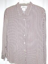 16P N Touch Pinstripe Shirt Style Top Washable Blouse NWTS