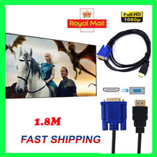 1080P HDTV HDMI Male to VGA Female Video Converter Adapter Cable for PC DVD 1.8m