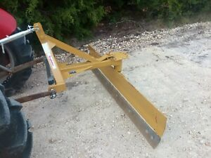 6' Heavy Duty Adjustable Grader Blade Tractor Implement 3pt
