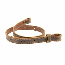 "Buffalo Hide Leather Rifle Gun Sling_Crazy Horse/Brown_Amish Handmade_1"" Wide BK"