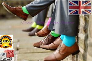 Fashion New Mens Plain Colour  Comfortable Soft Cotton Rich Ankle Socks UK 6-11