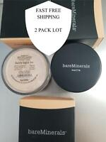 2 PACK -- Bare Escentuals BareMinerals MATTE Foundation FAIRLY LIGHT - N10 8g XL