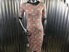 LuLaRoe Julia Pencil Dress  Aztec Print Half Sleeve Knee Length XXS Size 0
