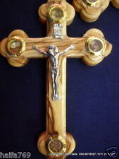 Lot 20 Cross olive wood hand made from Bethlehem with holy soil gift