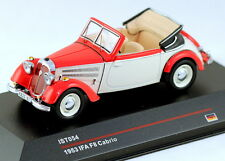 1/43 scale IST Models IST054  IFA F8 cabrio 1953 off white and red NIB