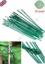 50 Pcs Pack Garden Cable Ties /Plant Ties To Use On Plants & Shrubs Brand New-UK