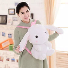 "20"" White Cute Bunny Kawaii Lolita Rabbit Plush Doll Kid's Backpack Shoulder Bag"