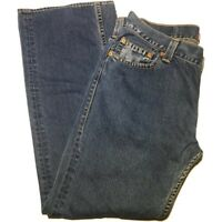 Womens Vintage Levi's Type 1 Tough Boot Mom Jeans Size 16 M High Rise Dark Wash