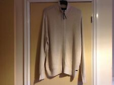 Men's RJR John Rocha Premium Cotton Zip Up Cardigan Colour Natural Size Large
