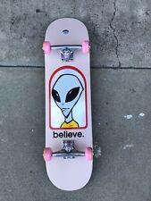 Alien Workshop Believe Hologram Skateboard Complete 7.87'' pink