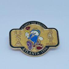 Atlanta 1996 Salutes USA Izzy Mascot Torch Olympic Pin