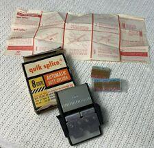 Vintage Quik Splice 8mm Butt Splicer Automatic Movie Film Tape Edit Quick