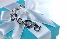 NEW Tiffany & Co. Stencil Heart Cut Out Bracelet 7.25 IN MED Sterling Silver 925