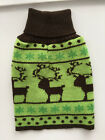 """Dog Pet Ugly Christmas Sweater Size Small 8""""-10"""" One Piece Snowflakes Reindeer"""