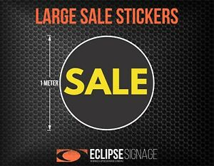Large Yellow Promotional Sale Stickers