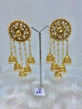 Plated Jewelry Earrings Jhumki Set New Indian Fashion Wedding Bridal Gold