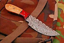 8INCH NEW RM CUSTOM DAMASCUS STEEL FULL TANG HUNTER SKINNER KNIFE WOOD HANDLE 64