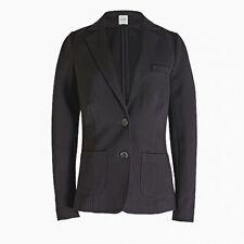 J CREW ~ BLACK Ponte Knit Work Blazer Suit Jacket Sz 16 NEW