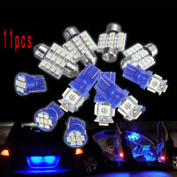 11Pcs LED Light Interior For T10 & 31mm Festoon Map Dome License Plate Lamp New