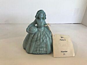 Boyd's Crystal Art Glass Colonial Doll #21 Udele Blue Figurine with Tag