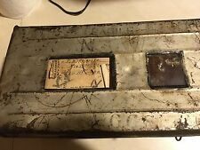 vintage three dozen metal mailing egg crate with directions