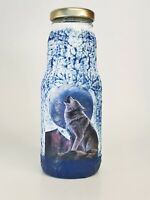 Wolf at the full moon juice glass, water cup, street smart mug, decoupage gift 2