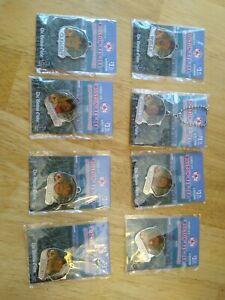 2005 Boston Red Sox Pendant Collection Lot of 8 Nixon Varitek Wakefield Clement+