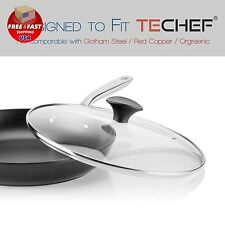 TeChef Cookware Tempered Round Pot Frying Pan Glass Lid 11-Inch Fit PREMIUM NEW