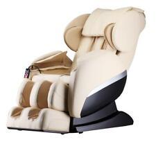 Massagesessel Shiatsu Zero Gravity mit Heizung Rollen Massage creme weiß beige