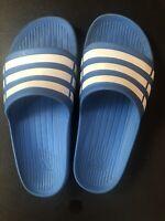 Adidas Blue Sliders Size 4 Older Child.