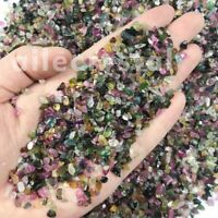 2.2LB Natural Colorful Tourmaline Tumbled Chips Stone Healing Reiki Crystal