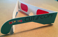 CUT COPY promotional glasses foe '3d' glasses red eyes in ghost colours modular