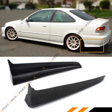 For 99-00 Civic EK 2DR Coupe Mu Style Rear Bumper Side Aprons Spats Caps Valance