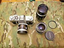 Canon FT QL 35mm SLR Film Camera , 50 mm,1:1.4 lens ,135, f2.5, 35mm f2.5