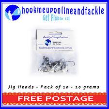 10 x 10gr(3/8oz) 2/0 Hook JIG HEAD MODEL2  SQUIDGIES BERKLEY GULP Z-MAN PLASTICS