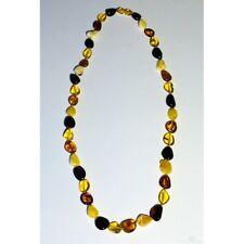 Collier olives multicolores adulte Ambre naturel de la Baltique 60 cm