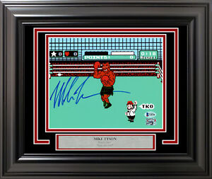 MIKE TYSON AUTOGRAPHED FRAMED 8X10 PHOTO PUNCH-OUT!! BECKETT BAS STOCK #195243