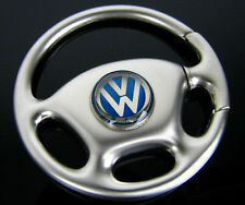 NEW CHROME Volkswagen pas Car Steering Wheel key Chain Ring