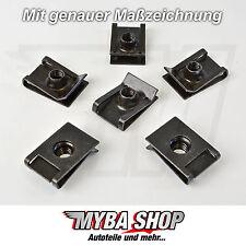 20x METALL HALTERKLAMMERN KLEMM MUTTER VW GOLF AUDI A4 A6 M6 x 23.4 x 16 #NEU#