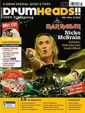 Iron Maiden Nicko McBrain - E-Drum Spezial - DrumHeads!! mit Play along CD