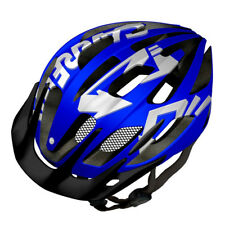 Carrera Hurricane Road MTB Helmet Blue & White with Rear LED Light 58-62cm