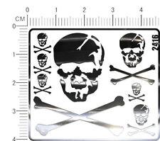 chrome(metal) decals Macross Skull for model kits (Silver) 2416