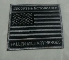 United States Escorts & Motorcades Fallen MilitaryEmbroidered Iron On Patch