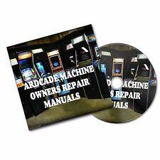ARCADE MACHINE SERVICE + OWNER MANUAL RETRO GAMES CABINET BAR MAME #retrogaming