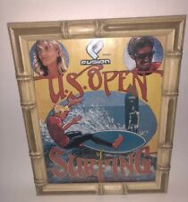 Surfing U.S. Open Offical Program Bamboo Frame Huntington Beach 2002