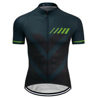 Men's Short Sleeve Cycling Jersey Riding Shirt 3 Pockets Breathable Biking Wears