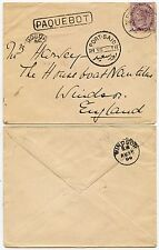 GB USED in EGYPT 1900 + PAQUEBOT to HOUSEBOAT NAUTILUS WINDSOR