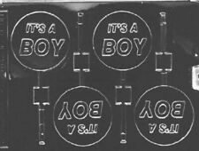 New listing Home Chocolate Factory It'S A Boy Lollipop Chocolate Mould. Delivery is Free